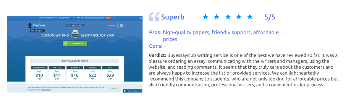 Buyessayclub.com Writing Service Review [Score: 5/5]