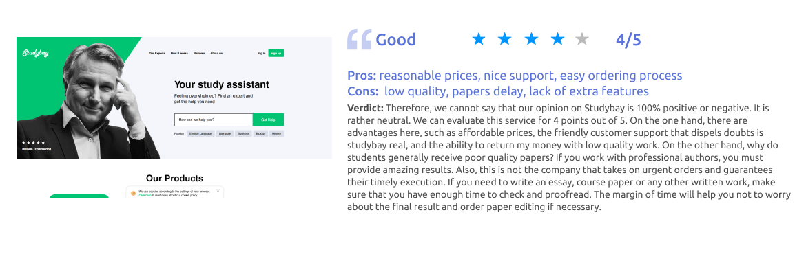 Studybay Writing Service Review [Score: 4/5]