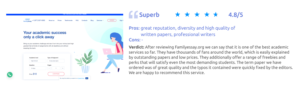FamilyEssay.org Writing Service Review [Score: 4.8/5]